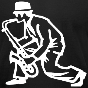 Ska Saxophonist T-Shirts - Men's T-Shirt by American Apparel