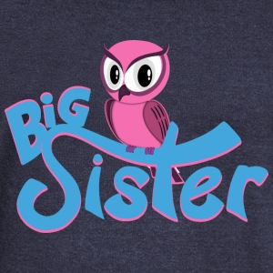 Owl Big Sister Long Sleeve Shirts - Women's Wideneck Sweatshirt