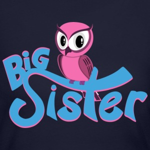 Owl Big Sister Long Sleeve Shirts - Women's Long Sleeve Jersey T-Shirt