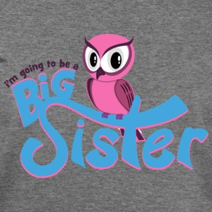 I'm going to be a Big Sister - Owl Long Sleeve Shirts - Women's Wideneck Sweatshirt