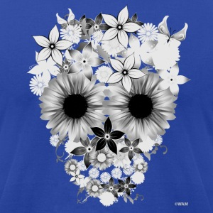 Skull Flowers T-Shirts - Men's T-Shirt by American Apparel