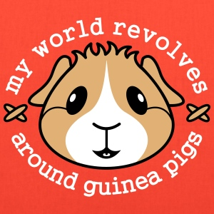 My World Revolves...' Guinea Pig Tote Shopping Bag - Tote Bag