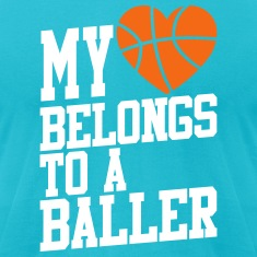 my heart belongs to a baller T-Shirts