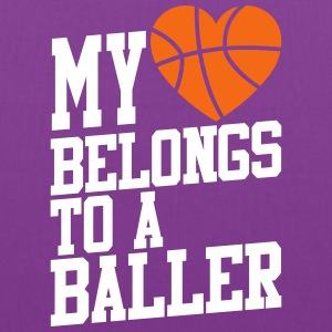 my heart belongs to a baller Bags & backpacks - Tote Bag