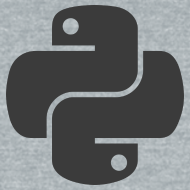 Design ~ Dark python logo on nice gray shirt