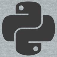 Design ~ Dark python logo on nice gray shirt
