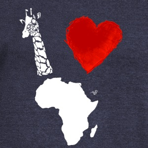 I Heart Africa (remix) by Tai's Tees - Women's Wideneck Sweatshirt