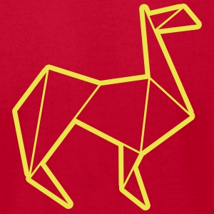 origami animals: llama T-Shirts - Men's T-Shirt by American Apparel