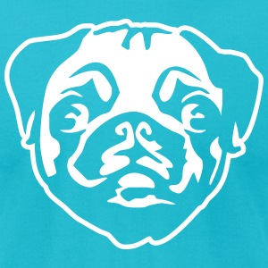 pug T-Shirts - Men's T-Shirt by American Apparel