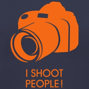 I shoot people Women's T-Shirts - Women's V-Neck T-Shirt