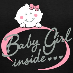 baby girl inside Women's T-Shirts - Women's V-Neck T-Shirt