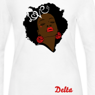 Design ~ SN&LI! Retro Fro Delta Long Sleeve