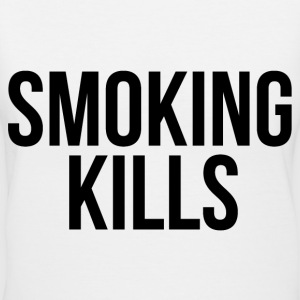 Smoking kills Women's T-Shirts - Women's V-Neck T-Shirt