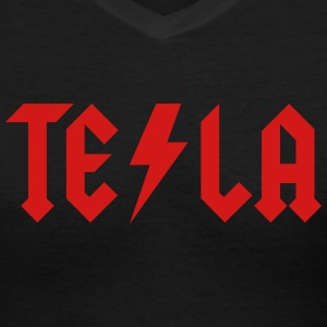 Tesla - Women's V-Neck T-Shirt