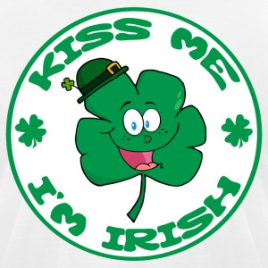 Kiss Me I'm Irish T-Shirts - Men's T-Shirt by American Apparel