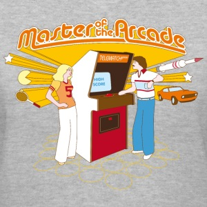 Master of the Arcade Women's T-Shirts - Women's V-Neck T-Shirt