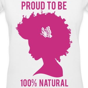 100% Womans Tee-pink graphic - Women's V-Neck T-Shirt