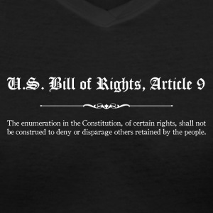 U.S. Bill of Rights - Article 9 T-Shirts - Women's V-Neck T-Shirt
