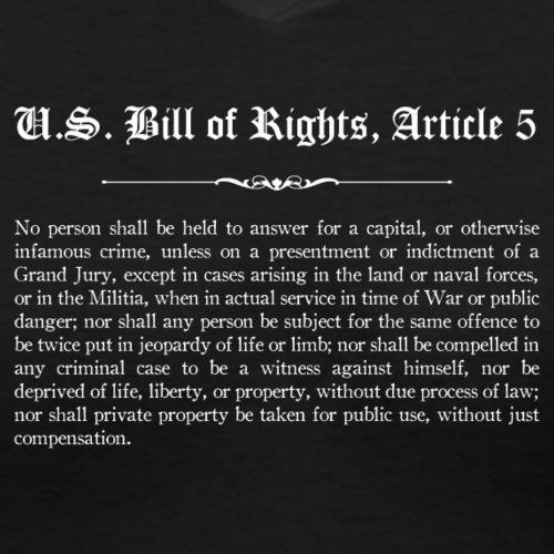 U.S. Bill of Rights - Article 5