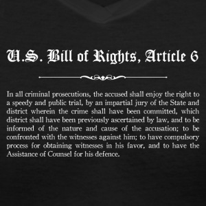 U.S. Bill of Rights - Article 6 T-Shirts - Women's V-Neck T-Shirt