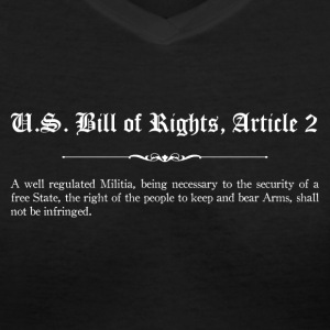 U.S. Bill of Rights - Article 2 T-Shirts - Women's V-Neck T-Shirt