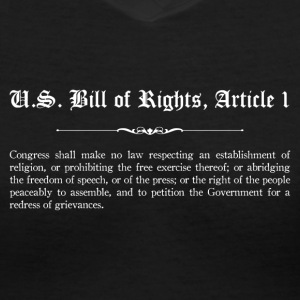 U.S. Bill of Rights - Article 1 T-Shirts - Women's V-Neck T-Shirt