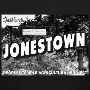 Jonestown Postcard T-Shirts - Women's V-Neck T-Shirt