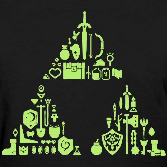 Zelda Items Triforce (Womens)