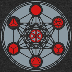 Platonic Solids, Metatrons Cube, Flower of Life T-Shirts - Unisex Tri-Blend T-Shirt