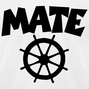 Mate T-Shirt (White/Front) - Men's T-Shirt by American Apparel