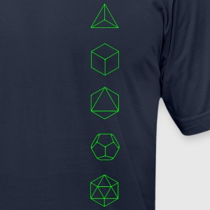 Platonic Solids, Sacred Geometry, Evolution T-Shirts - Men's T-Shirt by American Apparel
