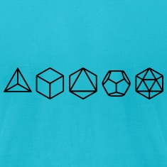 Platonic Solids, Sacred Geometry, Mathematics T-Shirts