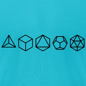 Platonic Solids, Sacred Geometry, Mathematics T-Shirts - Men's T-Shirt by American Apparel