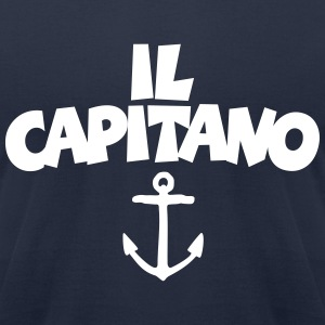 Il Capitano Anchor T-Shirt (Navy/Front) - Men's T-Shirt by American Apparel
