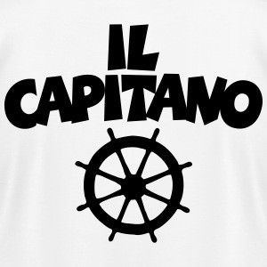 Il Capitano Wheel T-Shirt (White/Back) - Men's T-Shirt by American Apparel