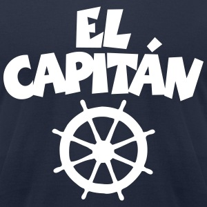El Capitán Wheel T-Shirt (Navy/Front) - Men's T-Shirt by American Apparel