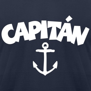 Capitán Anchor T-Shirt (White/Front) - Men's T-Shirt by American Apparel