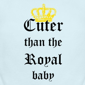 Cuter than the Royal Baby - Short Sleeve Baby Bodysuit