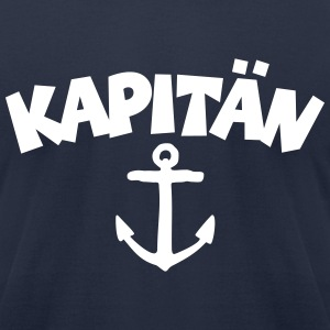 Kapitän t-shirt with anchor (Navy/Front) - Men's T-Shirt by American Apparel