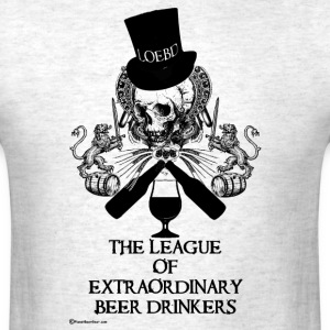 The League of Extraordinary Beer Drinkers Skull To - Men's T-Shirt