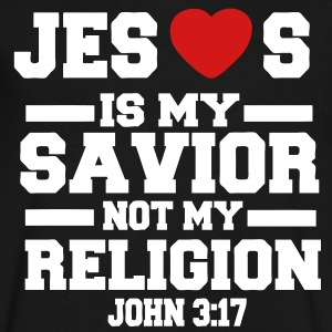 JESUS IS MY SAVIOR NOT MY RELIGION - Men's V-Neck T-Shirt by Canvas