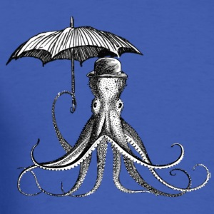 Squid with umbrella - Men's T-Shirt