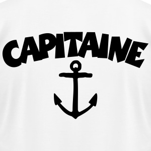Capitaine t-shirt with anchor (White/Back) - Men's T-Shirt by American Apparel