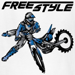 Yamaha Freestyle Dirt Biker Kids' Shirts - Kids' T-Shirt