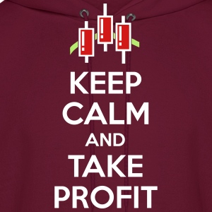 Keep calm and take profit Hoodies - Men's Hoodie
