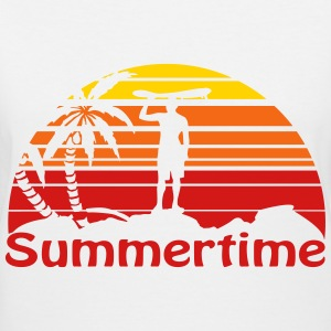 Summertime Women's T-Shirts - Women's V-Neck T-Shirt