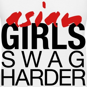 Asian Girls Swag Harder Women's T-Shirts - Women's V-Neck T-Shirt
