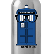 Design ~ Aluminum Water Bottle - Tardis
