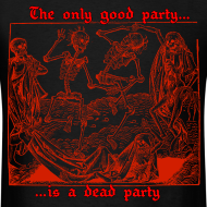 Design ~ Dead Party (Red) - Standard Weight Men's Shirt