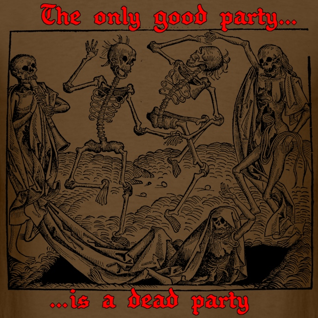 Dead Party (Black) - Standard Weight Men's Shirt